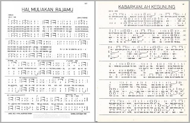 Daftar lirik lagu PADUAN SUARA untuk Natal lengkap dengan NOT NADA
