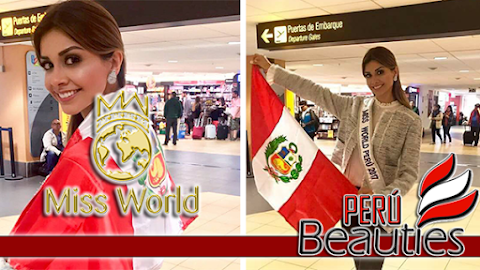 Miss World 2017 | Miss Perú rumbo a Sanya, China