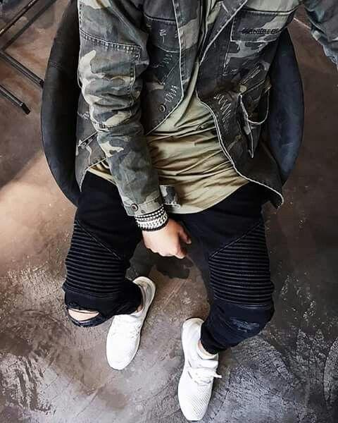 look masculino biker jeans