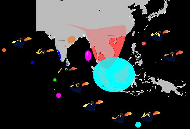 wilayah penyebaran burung beo