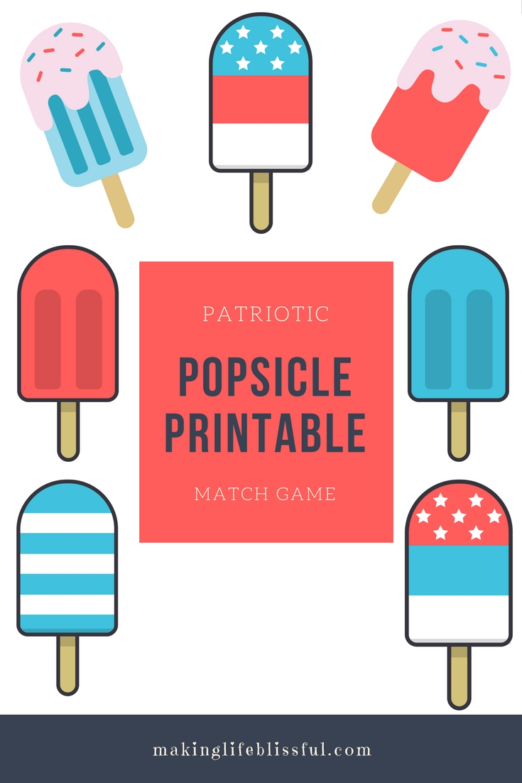 image about Popsicle Printable referred to as Patriotic Printable Popsicles Producing Daily life Blissful