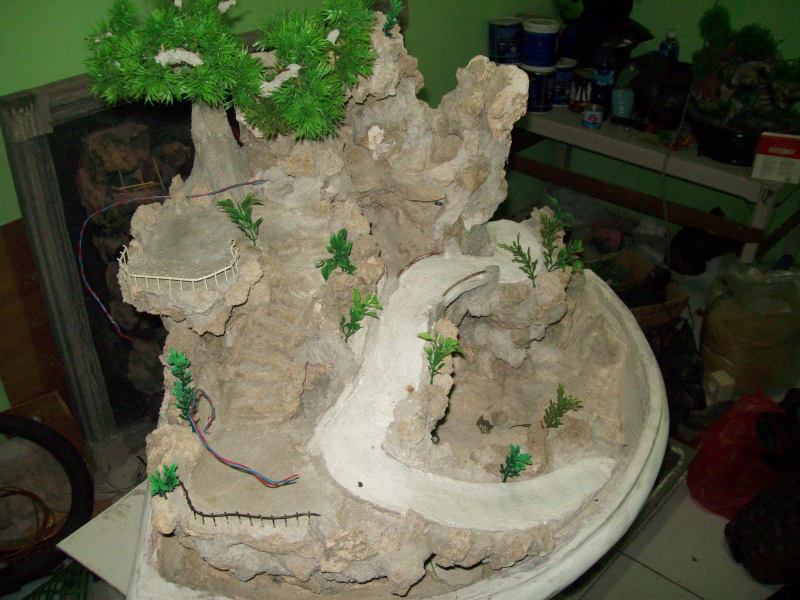 Miniatur Air Terjun Waterfall Miniature Cara Pembuatan Miniatur Air Terjun
