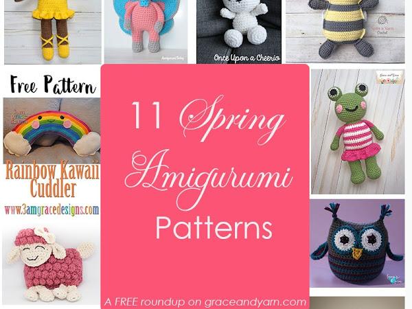 Spring Amigurumi Roundup - 11 Free Patterns
