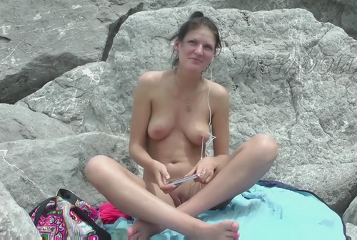 Naked on the rocks (Nude Beach Girl)
