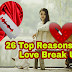 26 Reasons for Love Break up - Why Love Break Ups - Reasons to break up