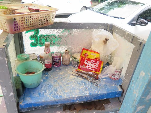 Puestecillo de venta de Kun Ja