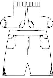Desenho de vestuário para colorir