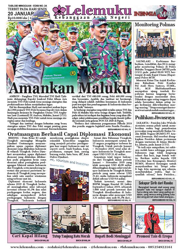Tabloid Lelemuku #24 - Amankan Maluku - 20 Januari 2020