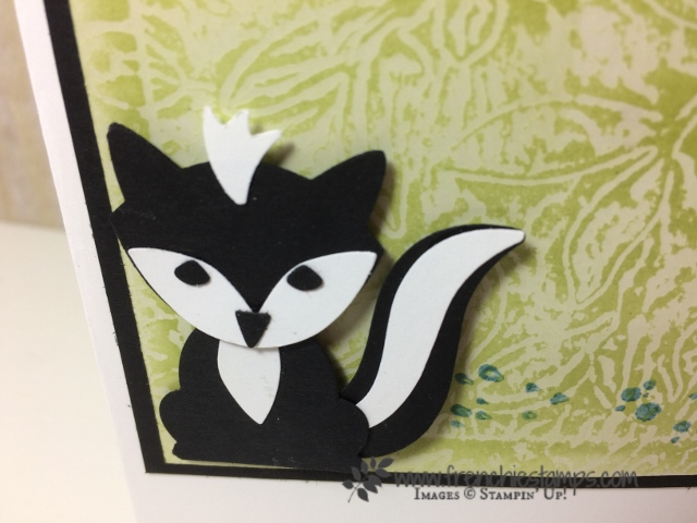 Fox Builder Punch, skunk Stampin'Up! Emboss Wax resist