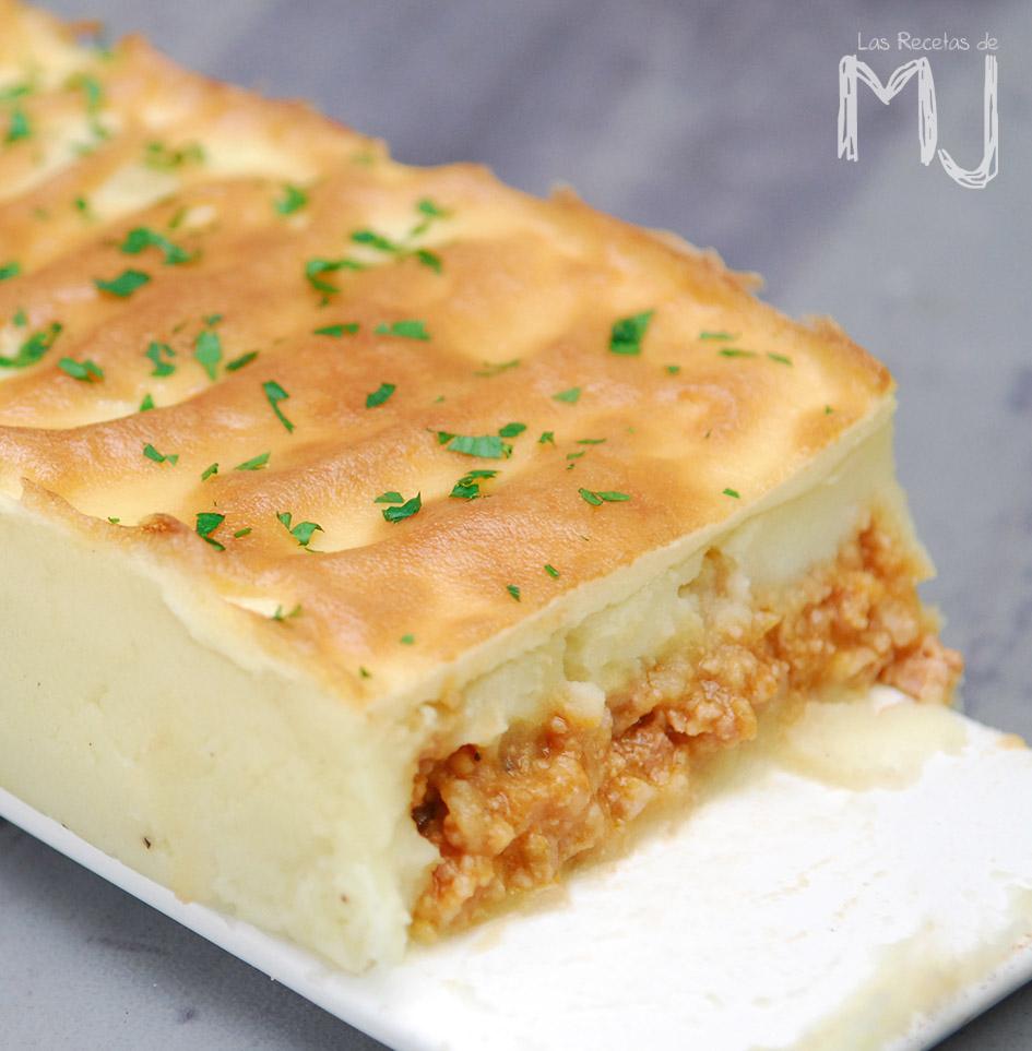 pastel de papa con carne picada