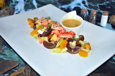 Flusskrebs-Salat