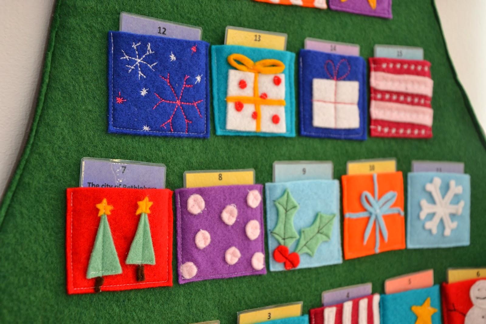 Tadpegs: Make A Felt Advent Calendar