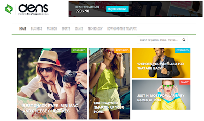 Dens Blog/Magazine Responsive Blogger Template