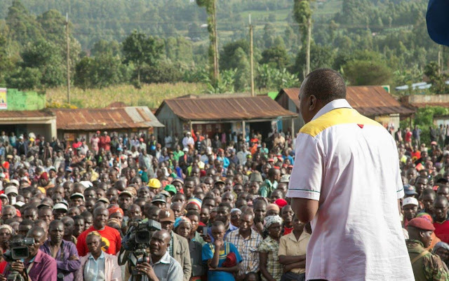 President Uhuru in Kisii tour. PHOTO | Courtesy