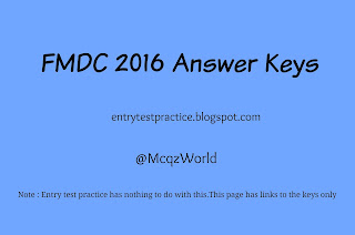 FMDC 2016 Answer Keys