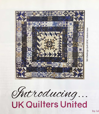 365 Challenge Quilt by Valerie Imm as featured in British Patchwork and Quilting Magazine November 2017