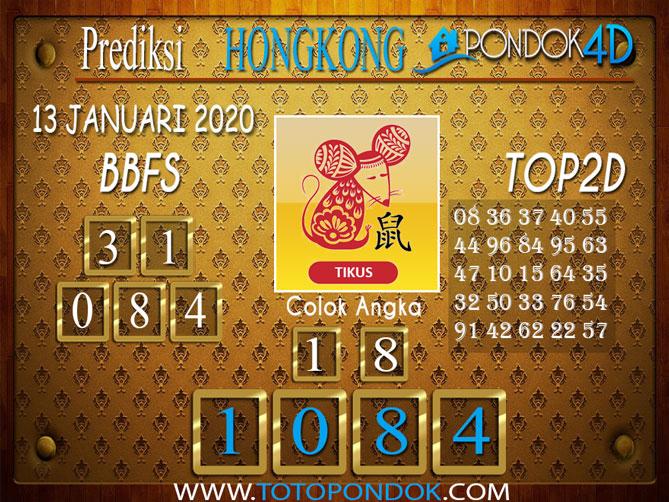 Prediksi Togel HONGKONG PONDOK4D 13  JANUARI 2020