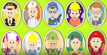 تعليم أسماء المهن للأطفال مع أدوات كل مهنة مع الصور والشرح رياض الأطفال