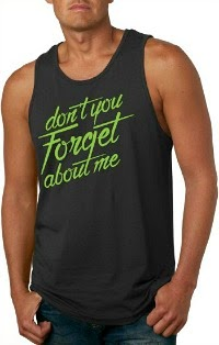 "Mens ""Don't You Forget About Me"" Simple Minds Black Vest Top"
