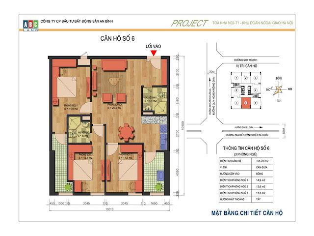 Căn 02 và 06 tại chung cư An Bình Complex - N02T1 Ngoại Giao Đoàn
