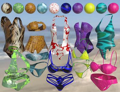 Iray Super Shaders Bikinis Gone Wild