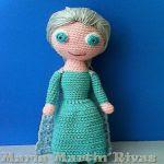 patron gratis muñeca Elsa amigurumi | free pattern amigurumi Elsa doll