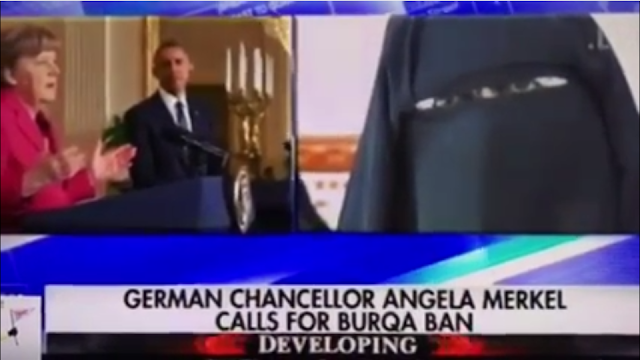 Angela Merkel does a 180 and calls for a ban on Burqas in Germany.