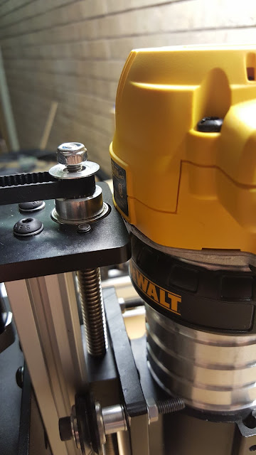 clearance issue between dewalt router and z-axis motor plate