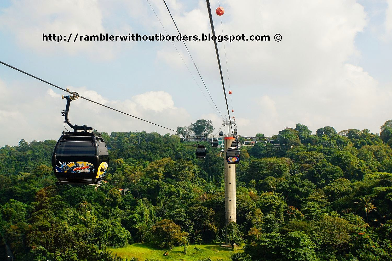 Singapore Cable Car toward Mount Faber Park, Singapore