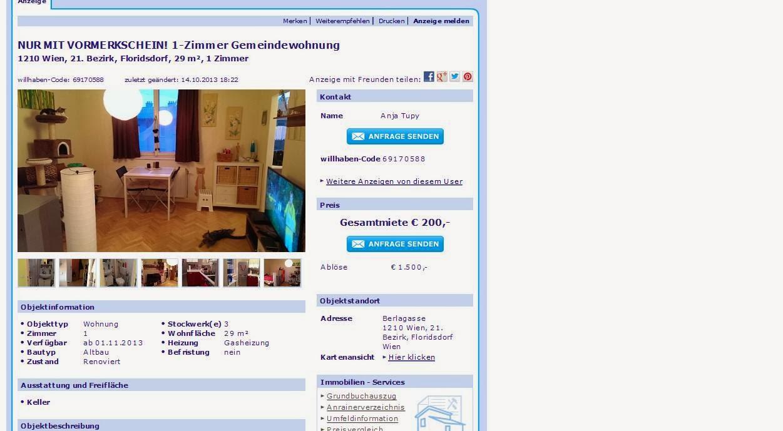Wohnungsbetrugblogspotcom Ulrich90fiedler At Outlookat Nur Mit