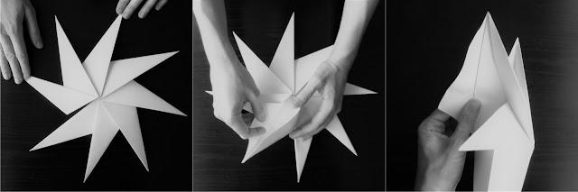 łatwa i szybka gwiazda z papieru