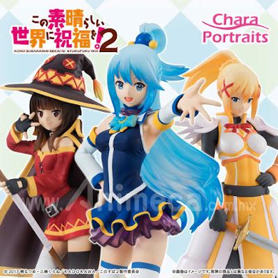 Figura set CharaPortraits Aqua, Megumin y Darkness Kono Subarashii Sekai ni Shukufuku o! (Konosuba)