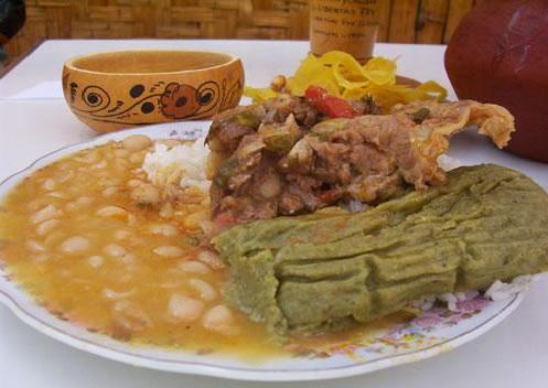 Seco de Cabrito con Tamales Verdes