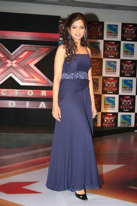 Singer Shreya Ghoshal Smiling Stills In Blue Dress
