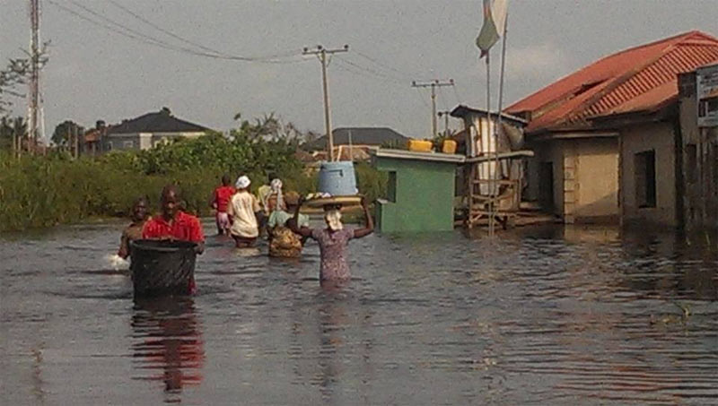 Ogun communities sacked by flood as residents flee on boats