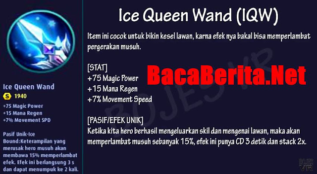 Fungsi item mage Ice Queen Wand mobile legend