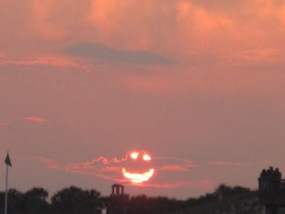 Foto divertida del sol