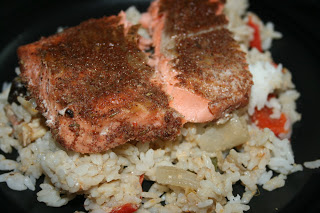 This is how to make Jamaican Salmon in the CrockPot. There's a recipe in it to make the best Jerk spice rub I've ever had!