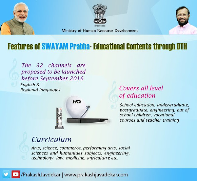 32 Education channels coming soon before September 2016 to enhance #TransformingIndia