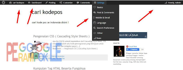 cara membuat halaman admin seperti di wordpress pada blogger