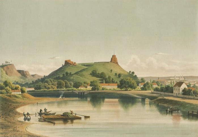 Гора Гедемина (Gedimino pilies bokštas), рисунок 1970 г.