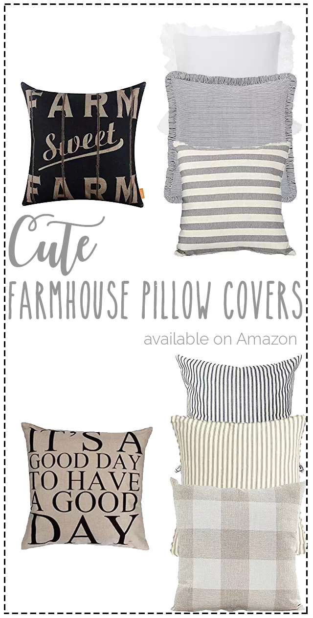 Favorite farmhouse pillow covers on Amazon | affordable pillow covers on Amazon | great site to find cute farmhouse pillow covers