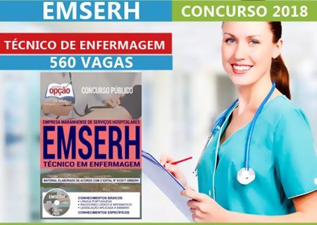Concurso Emserh 2018 Técnico em Enfermagem