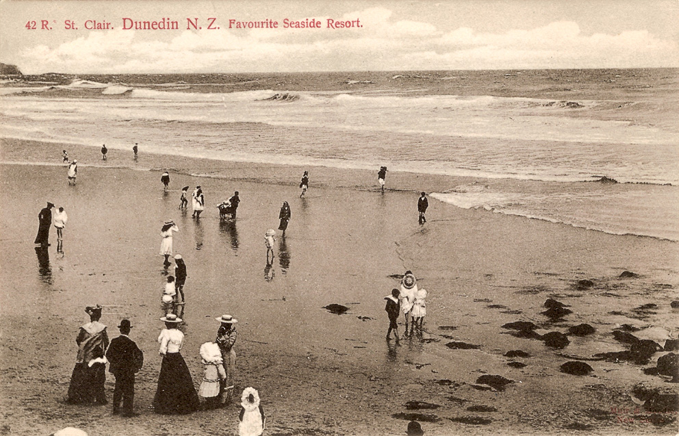 St Clair Beach Dunedin New Zealand C 1910