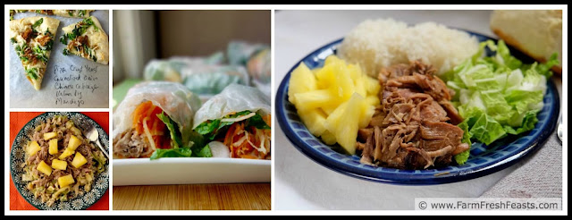 kalua pig leftovers can be used in pizza, main dish salad, sandwiches or summer rolls