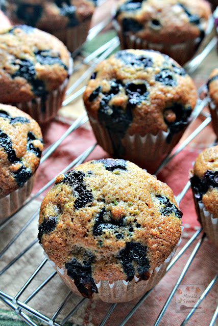 Bursting with flavor from juicy blueberries and loaded with zucchini too these moist and scrumptious muffins are perfectly wholesome and great as snack or breakfast for the whole family!