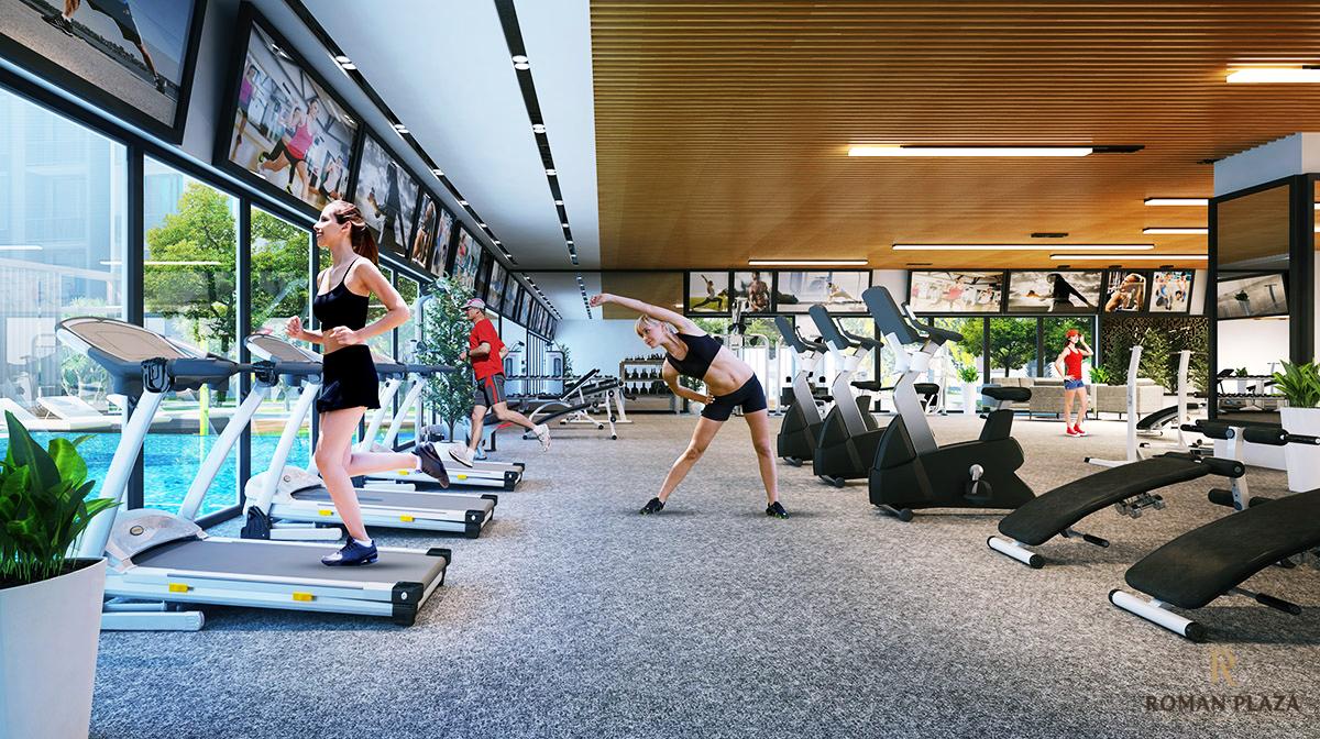 Phòng tập Gym dự án Roman Plaza