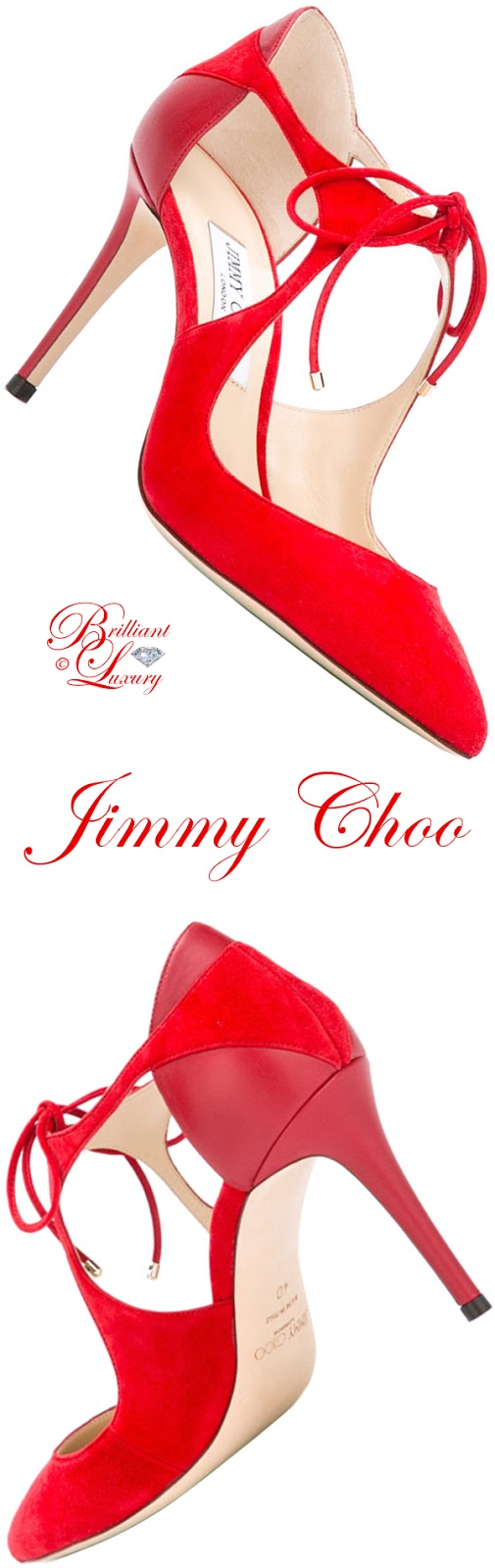Brilliant Luxury ♦ Jimmy Choo tie-tront pumps