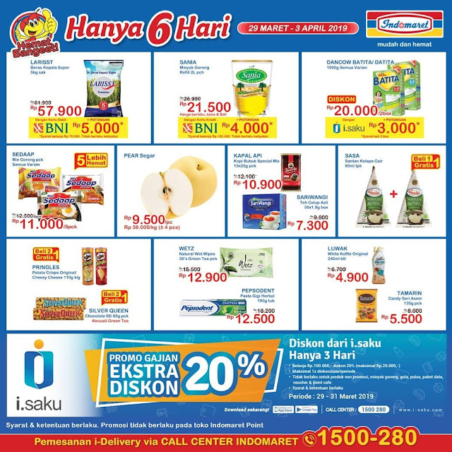 #Indomaret - #Promo #Katalog 6 Hari Periode 29 - 02 April 2019