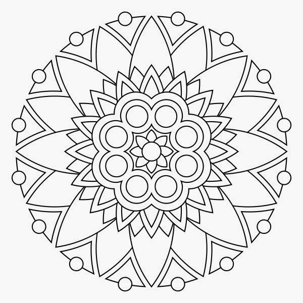 free mandalis coloring pages | Printable coloring pages